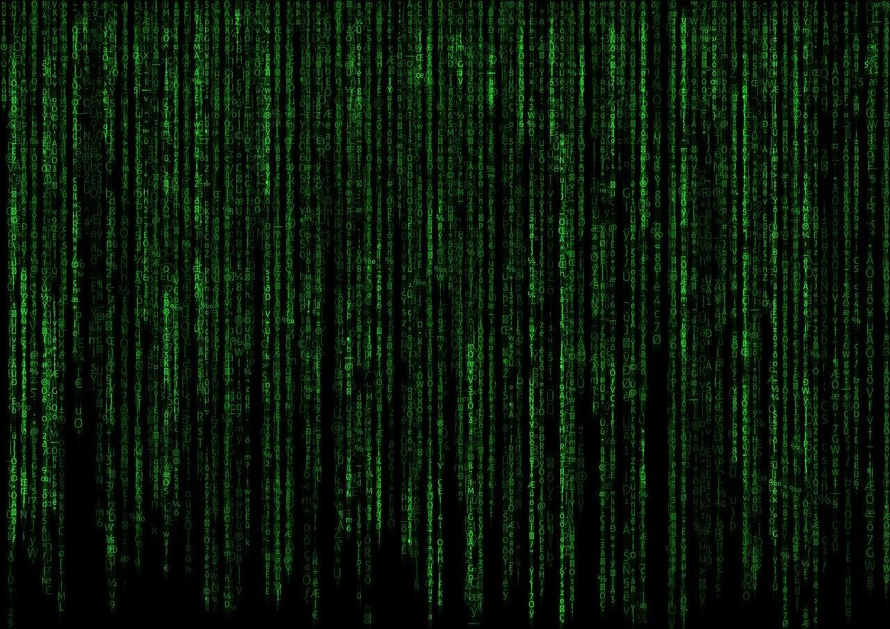 matrix, code, computer